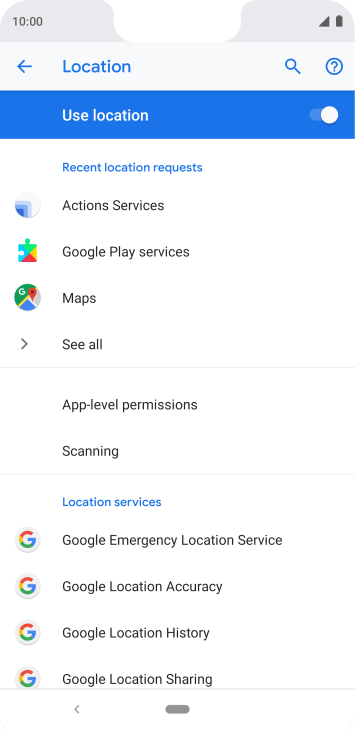 Press Google Location Accuracy.