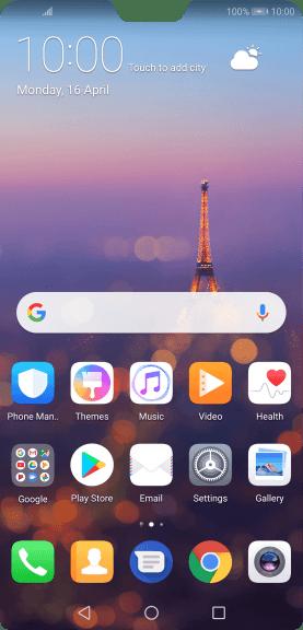Huawei P20 Pro - List of screen icons - Safaricom