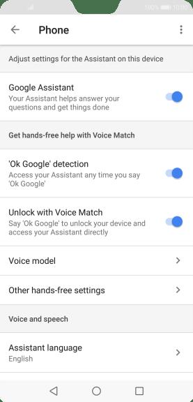Huawei P20 Pro - Select settings for voice control - Safaricom