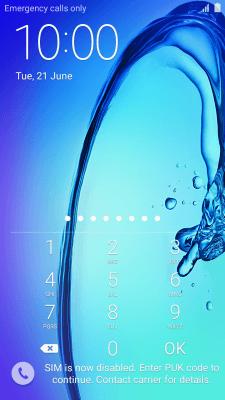Retrieve PUK code and unblock SIM - Samsung Galaxy J3 (Android 5 1 1
