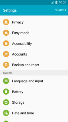 Restore factory default settings - Samsung Galaxy J3