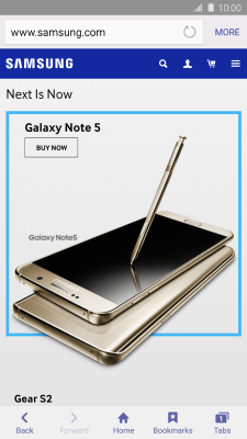 Use internet browser - Samsung Galaxy Note 5 (Android 5 1 1