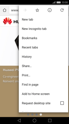 Use internet browser - Huawei P9 (Android 6 0) - Telstra