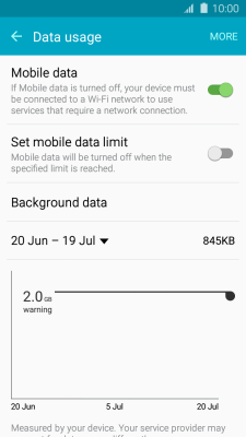 I can't use my phone's internet connection - Samsung Galaxy