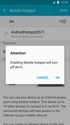 I can't use my phone as a Wi-Fi hotspot - Samsung Galaxy J3