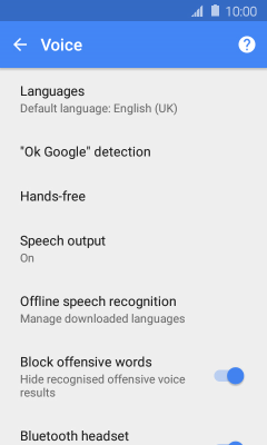 Select settings for voice control - Samsung Galaxy J1