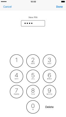 change pin apple iphone 7 plus ios 10 0 telstra. Black Bedroom Furniture Sets. Home Design Ideas