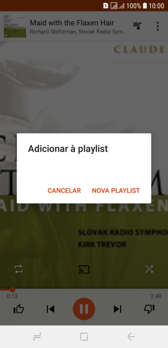 Pressione NOVA PLAYLIST.