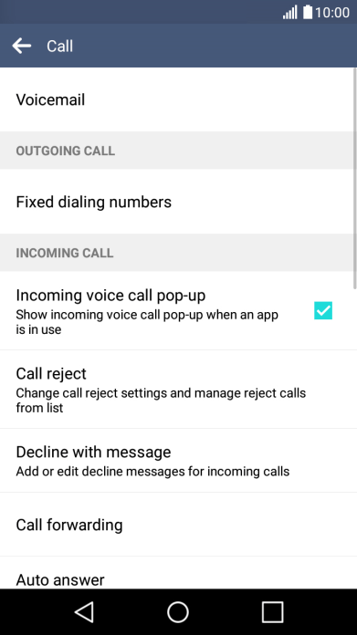 Incoming calls aren't diverted to your voicemail - K8 4G (Android