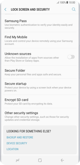 Change PIN on your Samsung Galaxy S8+ Android 7 0 - Galaxy S8+