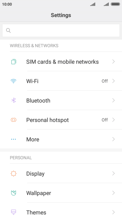Select dual SIM settings on your Xiaomi Redmi 4A Android 6 0