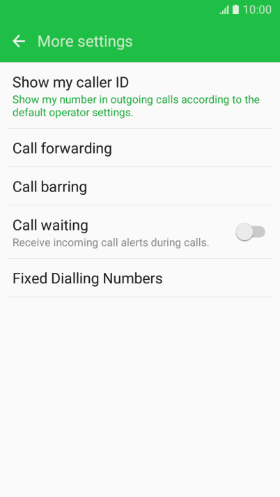 Cancel all diverts on your Samsung Galaxy J5 (2016) Android