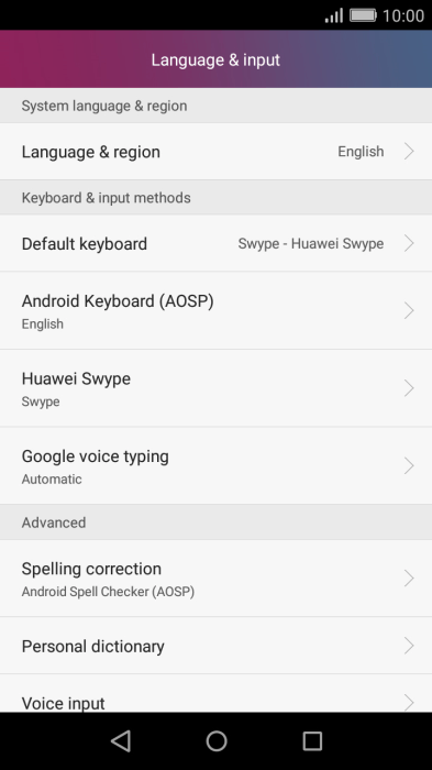 Select voice control settings on your Huawei Y5 II Android 5 1 - Y5