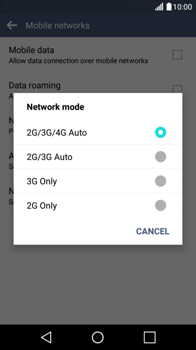 Select network mode on your LG K8 4G Android 6 0 - K8 4G