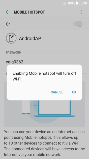 If Wi-Fi is turned on, press OK.