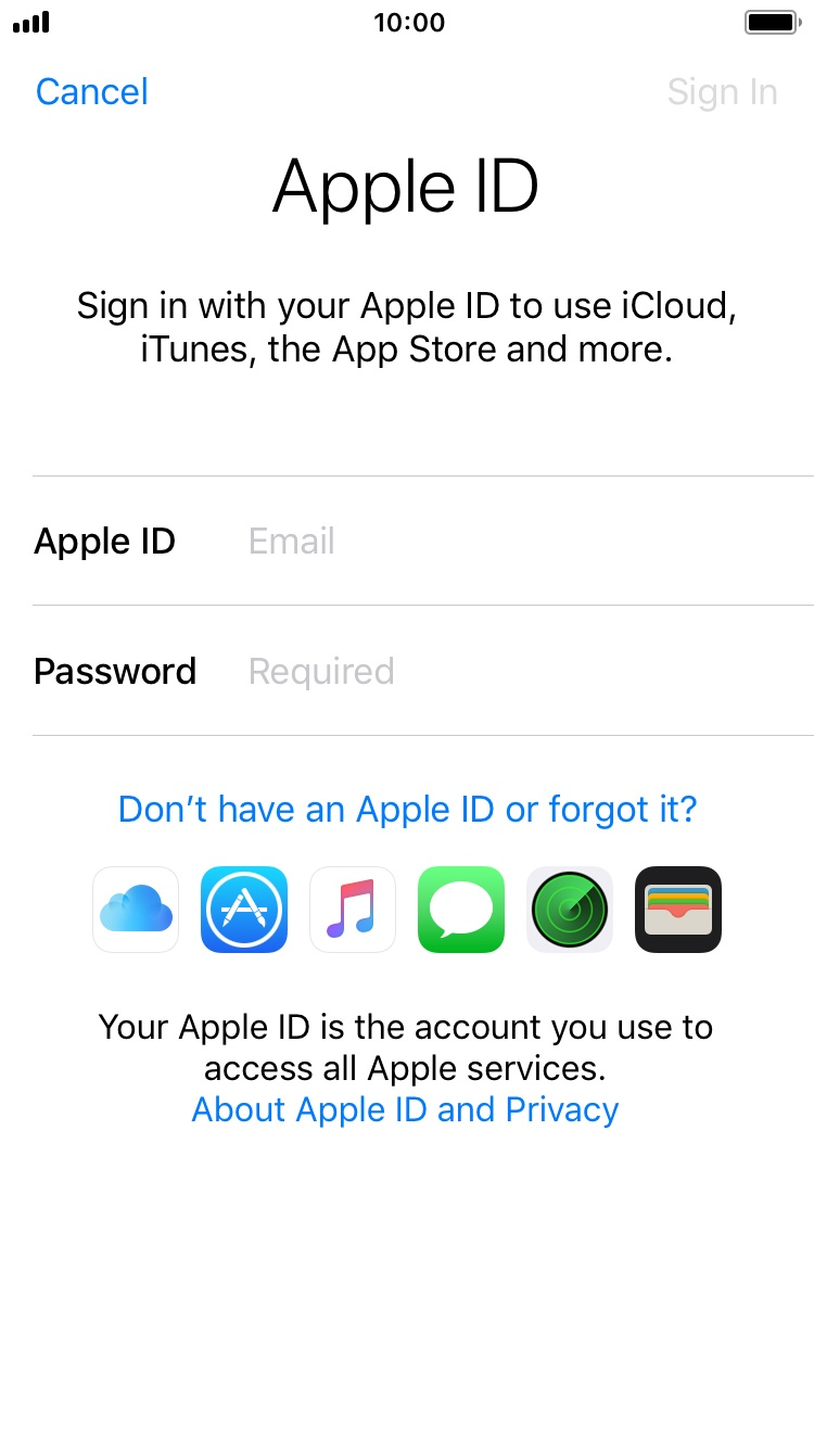 how to change my apple id on my iphone