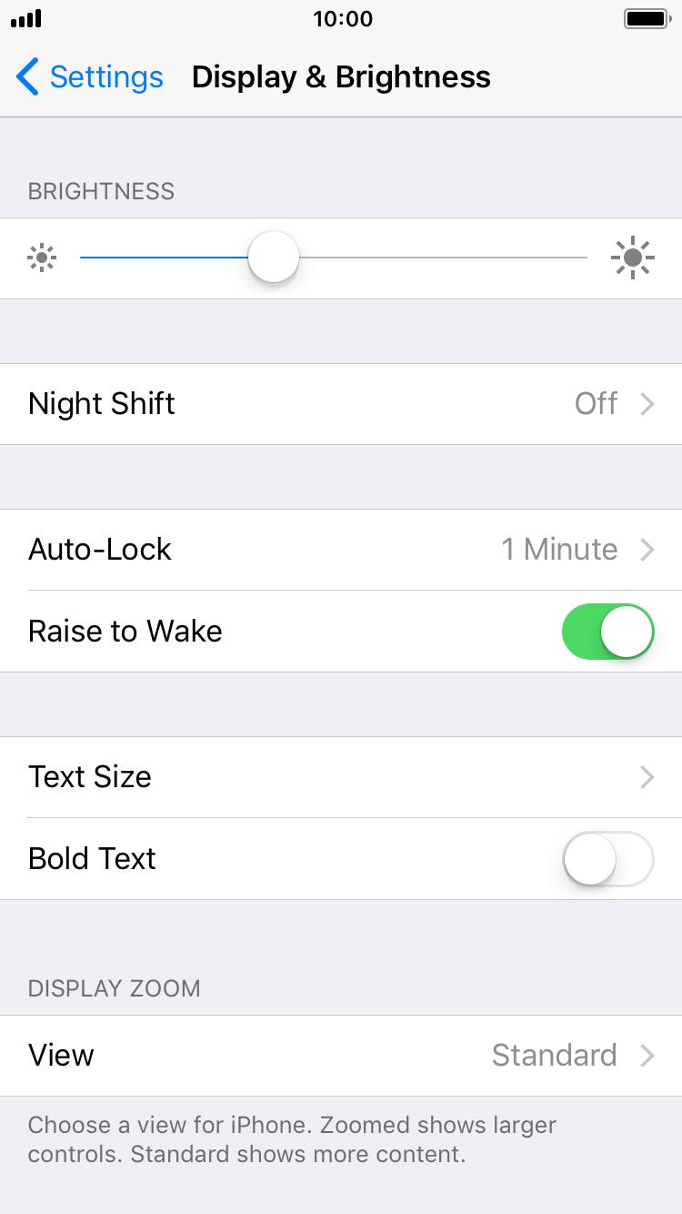 Turn auto brightness off iphone 7 11