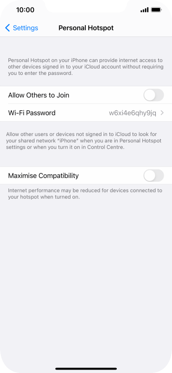 Press Wi-Fi Password and key in the required password.