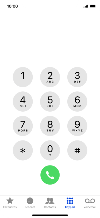 Press Keypad.