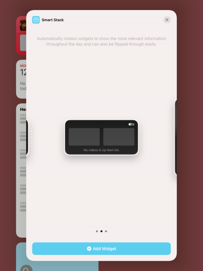 Press Add Widget.