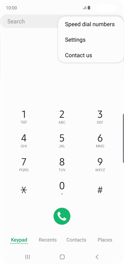 Turn call waiting on your Samsung Galaxy S10+ Android 9.0