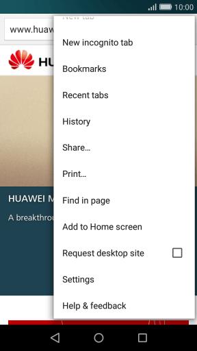 Huawei P8 Lite - Clear browser data - Safaricom
