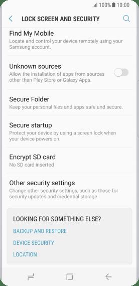 Samsung Galaxy S8 - Change PIN - Safaricom
