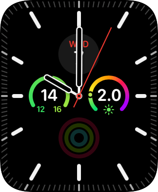 Hard press the watch face.