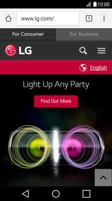 Use internet browser - LG K4 (2017) (Android 6 0) - Telstra