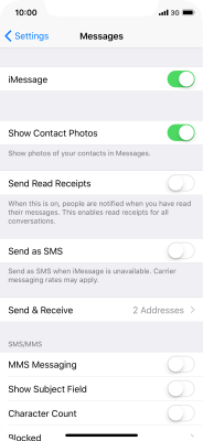 I can't send and receive iMessages - Apple iPhone X (iOS 11 1) - Telstra