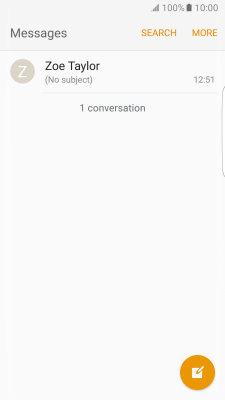 I can't send and receive text messages - Samsung Galaxy S7