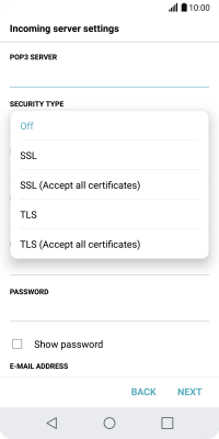 I can't send and receive email - LG G6 (Android 7 0) - Telstra