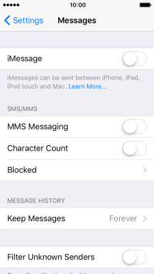 Set up your phone for picture messaging - Apple iPhone SE (iOS 10 0