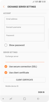 I can't send and receive email - Samsung Galaxy S9 (Android 8 0