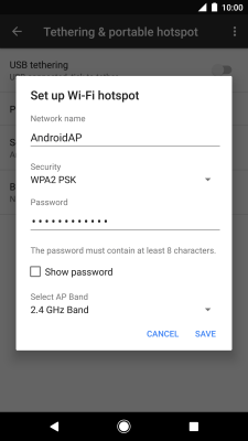 I can't use my phone as a Wi-Fi hotspot - Google Pixel XL