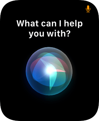Say, in your own words, what you would like your Apple Watch to do.