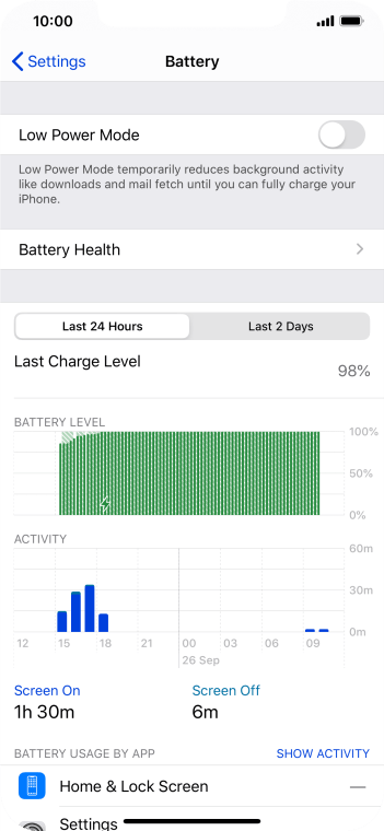 Press Battery Health.