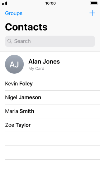 Press the new contact icon.