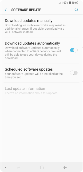 Press Download updates manually. If a new software version is available, it's displayed. Follow the instructions on the screen to update the phone software.