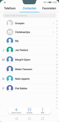 Nieuw contact toevoegen iphone