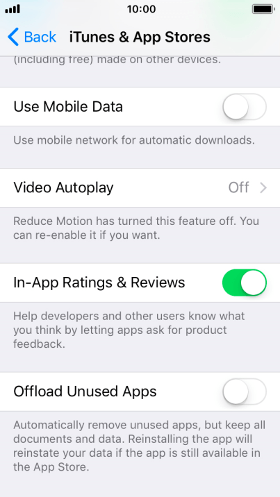 Turn Offload Unused Apps on or off - Apple iPhone 5s - Optus