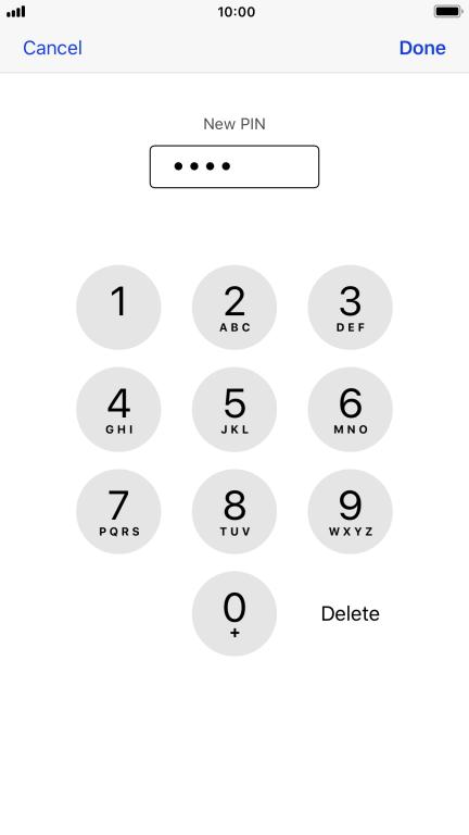 sim pin iphone ändern