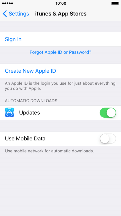 Activate Apple ID on mobile phone - Apple iPhone 7 - Optus