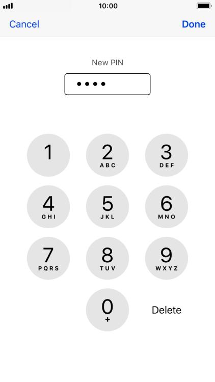 Change PIN - Apple iPhone 8 - Optus