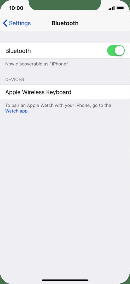 Turn Bluetooth on or off - Apple iPhone X - Optus