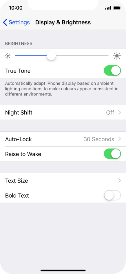 Turn automatic screen activation on or off - Apple iPhone X