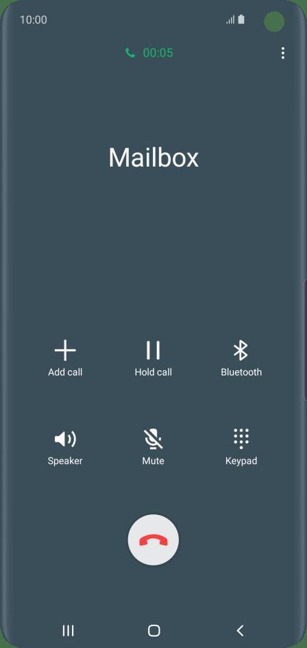 Call voicemail - Samsung Galaxy S10 - Optus
