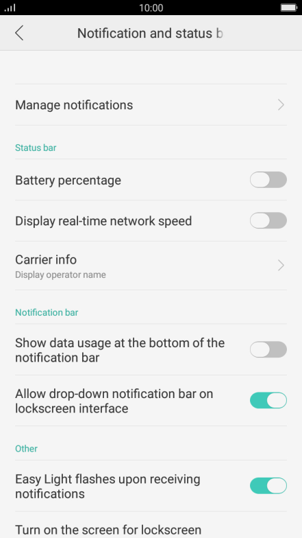 Turn notifications on or off - OPPO F1s - Optus