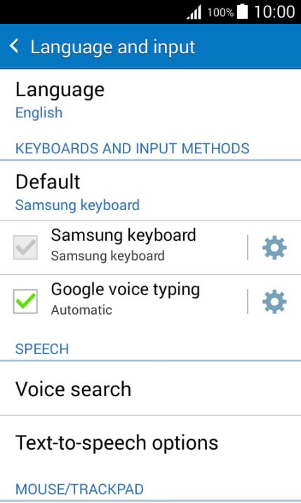 Writing text on my mobile phone - Samsung Galaxy J1 - Optus
