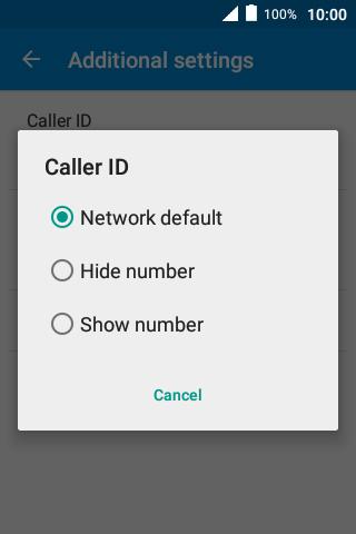 Turn caller identification on or off - Alcatel Pixi 4 (3 5) - Optus